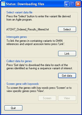 AgileGeneFilter Screenshot 3