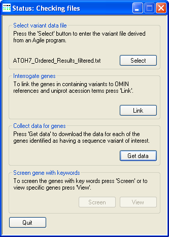 AgileGeneFilter Screenshot 4