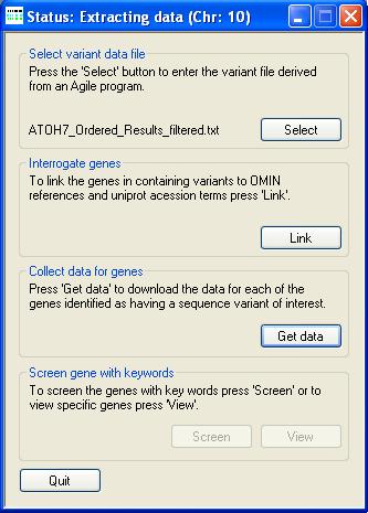 AgileGeneFilter Screenshot 5
