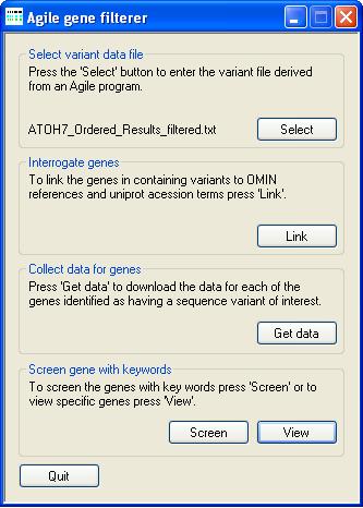 AgileGeneFilter Screenshot 6