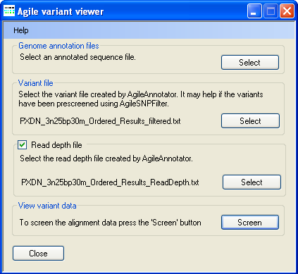 AgileVariantViewer Screenshot 1